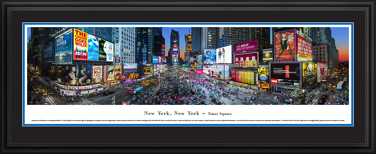 New York City Times Square Panoramic Wall Decor