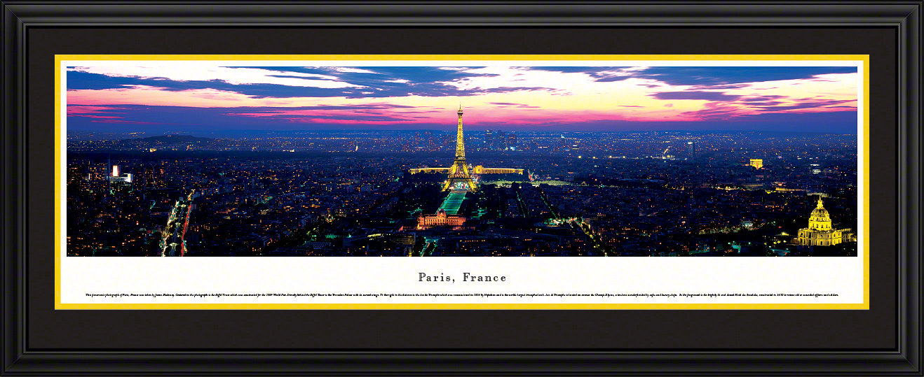 Paris City Skyline Interior Design Wall Decor
