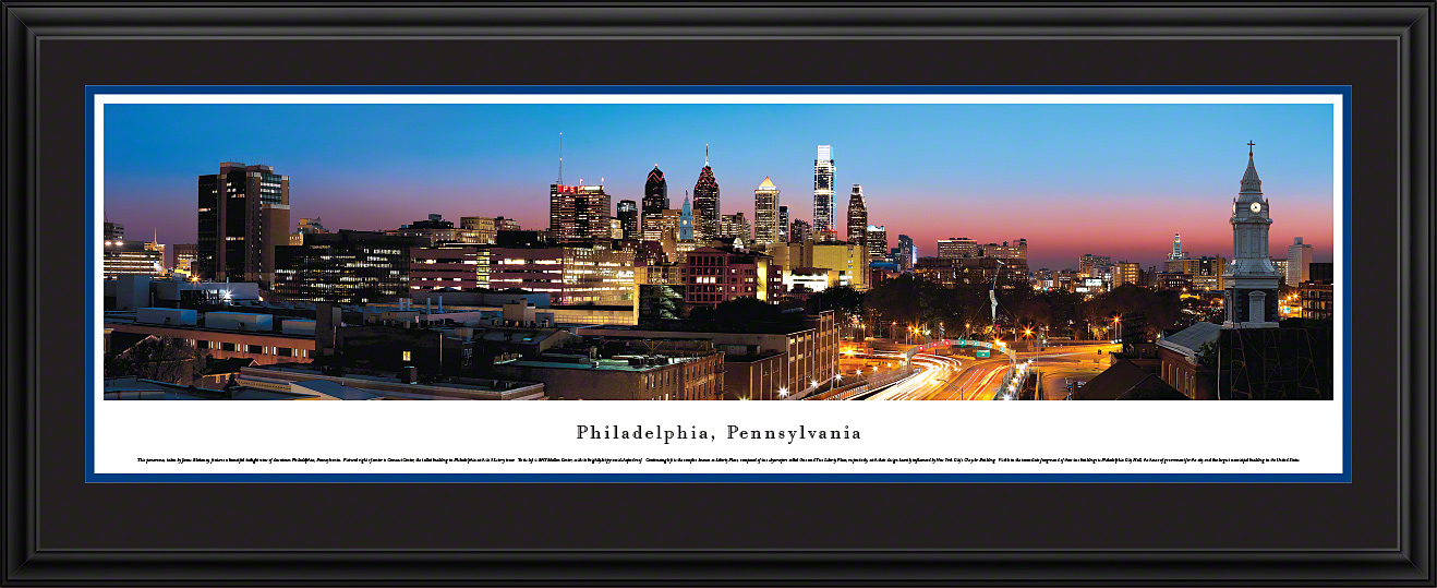 Fine Art Decor Philadelphia City Skyline Imagery
