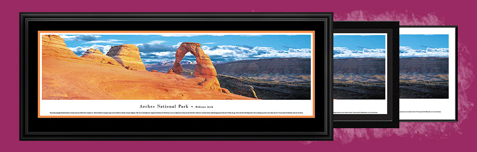 Arches National Park Scenic Landscape Panoramic Wall Art