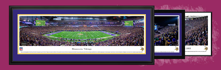 Minnesota Vikings Panoramic NFL Fan Cave Decor