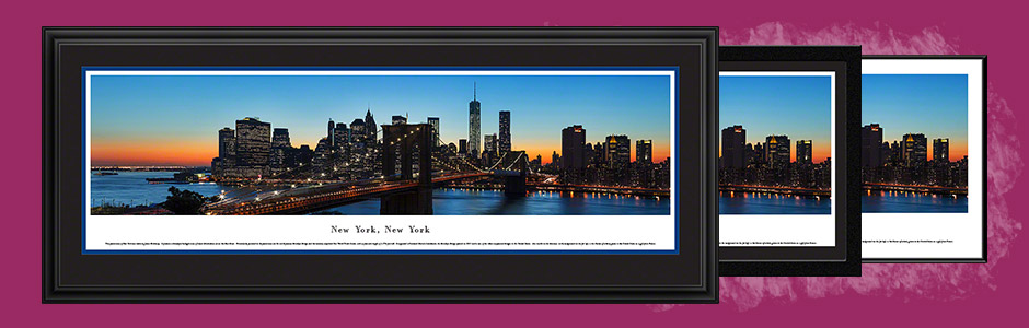 New York City Skyline Panoramic Wall Decor