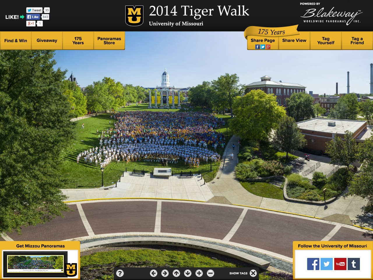 Missouri Tiger Walk
