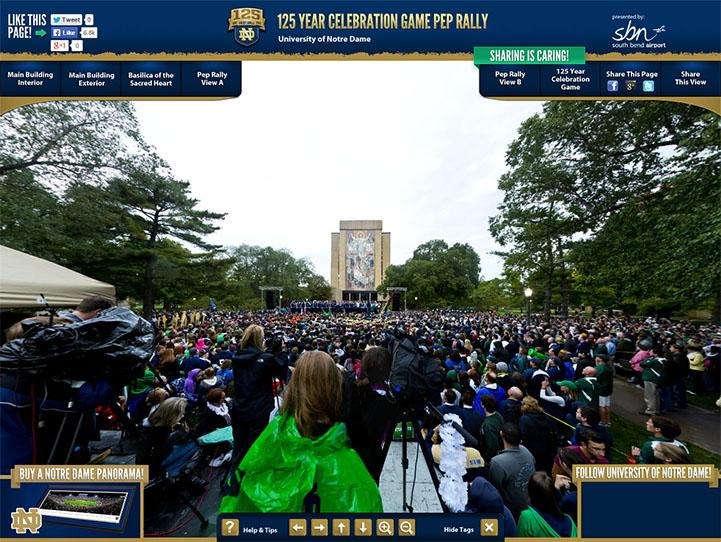 Notre Dame Pep Rally